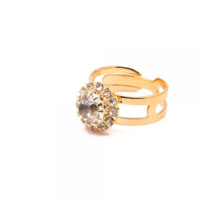 Inel placat cu aur de 18 K Rock Shine