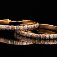 Cercei placati cu aur 18 K Rock Shine