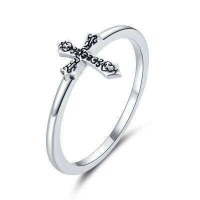 Inel din argint Ancient Cross