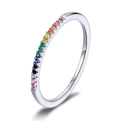 Inel din argint Crystal Rainbow