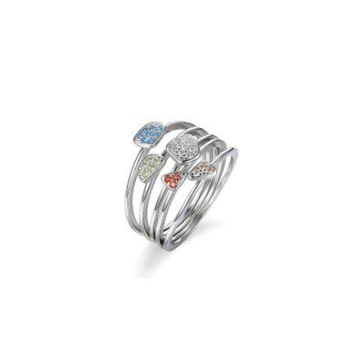 Inel din argint Fashion Multi Crystals