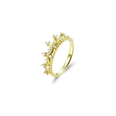 Inel din argint Golden Crown