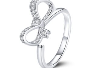 Inel din argint reglabil Glamour Bow