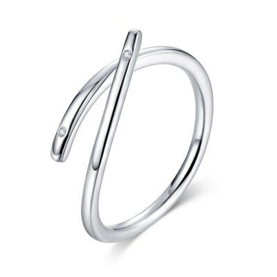 Inel din argint reglabil Silver Rope