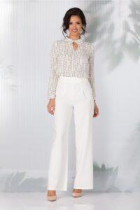 Pantaloni LaDonna evazati albi