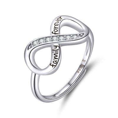 Inel din argint Adjustable Infinite Ring
