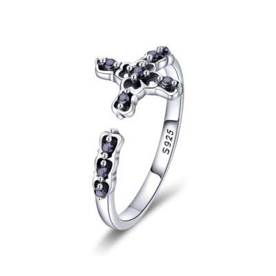 Inel din argint Black Diamond Cross