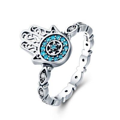 Inel din argint Blue Fatima
