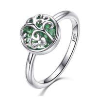 Inel din argint cu Sticla Verde