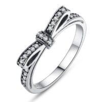 Inel din argint patinat My Crystal Wish