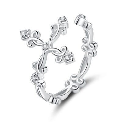 Inel din argint Retro Cross