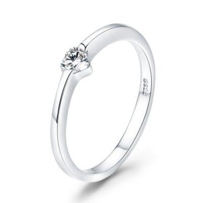 Inel din argint Simple Heart Ring
