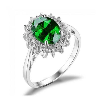 Inel din argint Emerald Russian Crown Drop